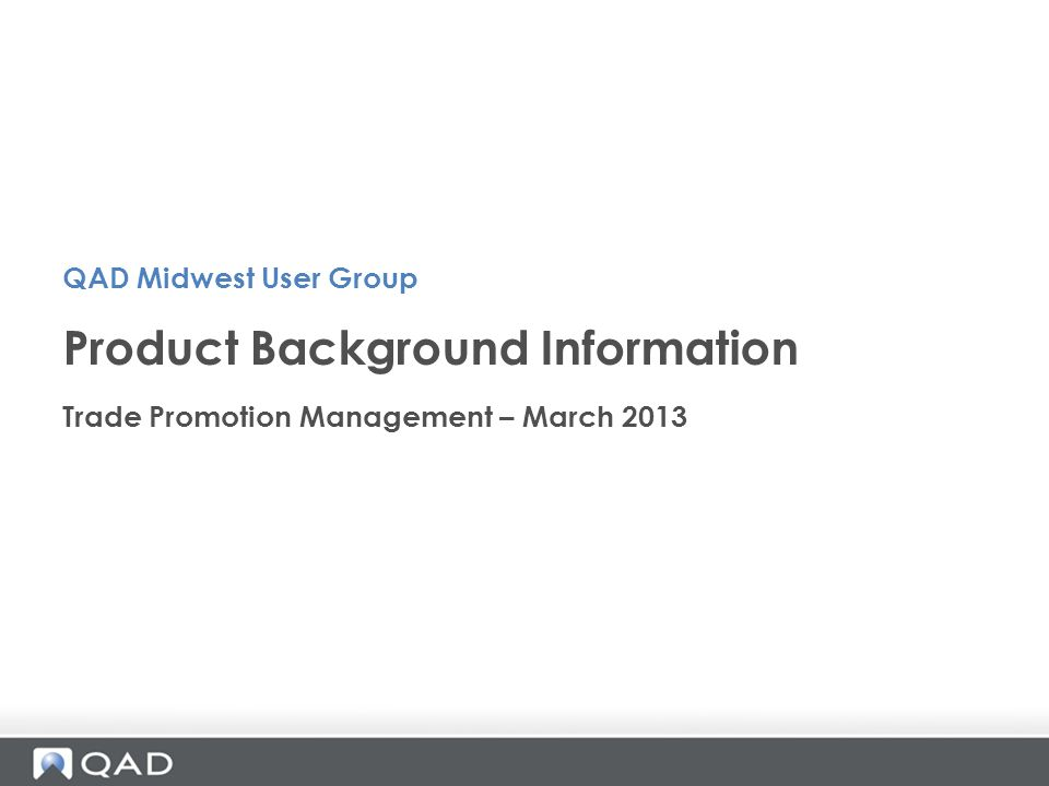 Product Background Information