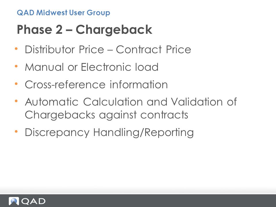 Phase 2 – Chargeback Distributor Price – Contract Price