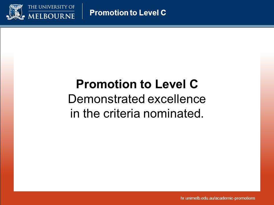 Demonstrated excellence in the criteria nominated.