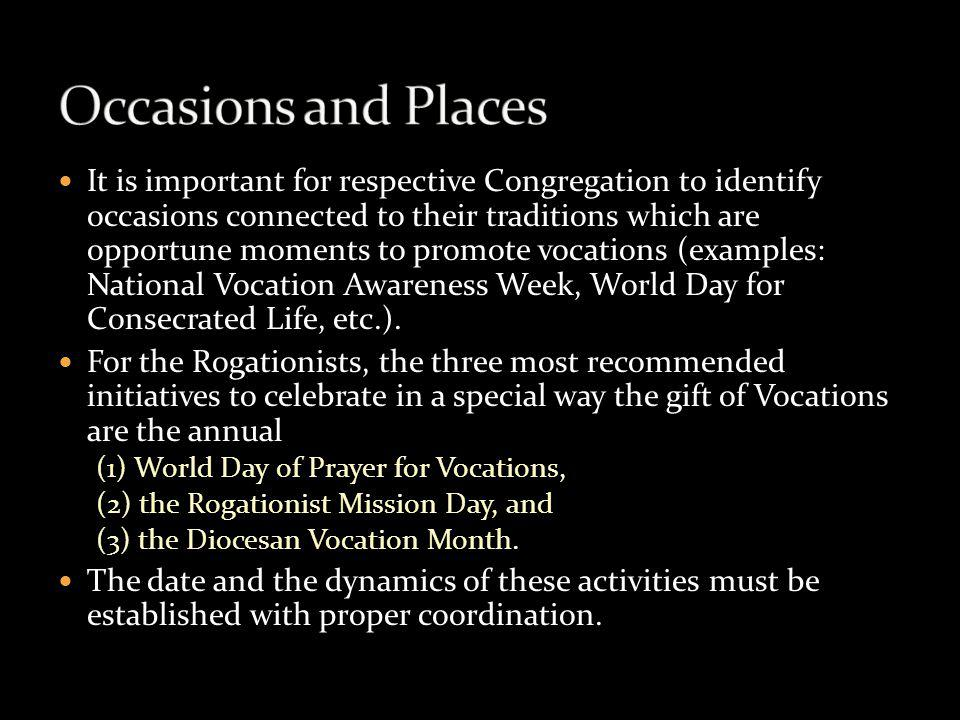 Occasions and Places