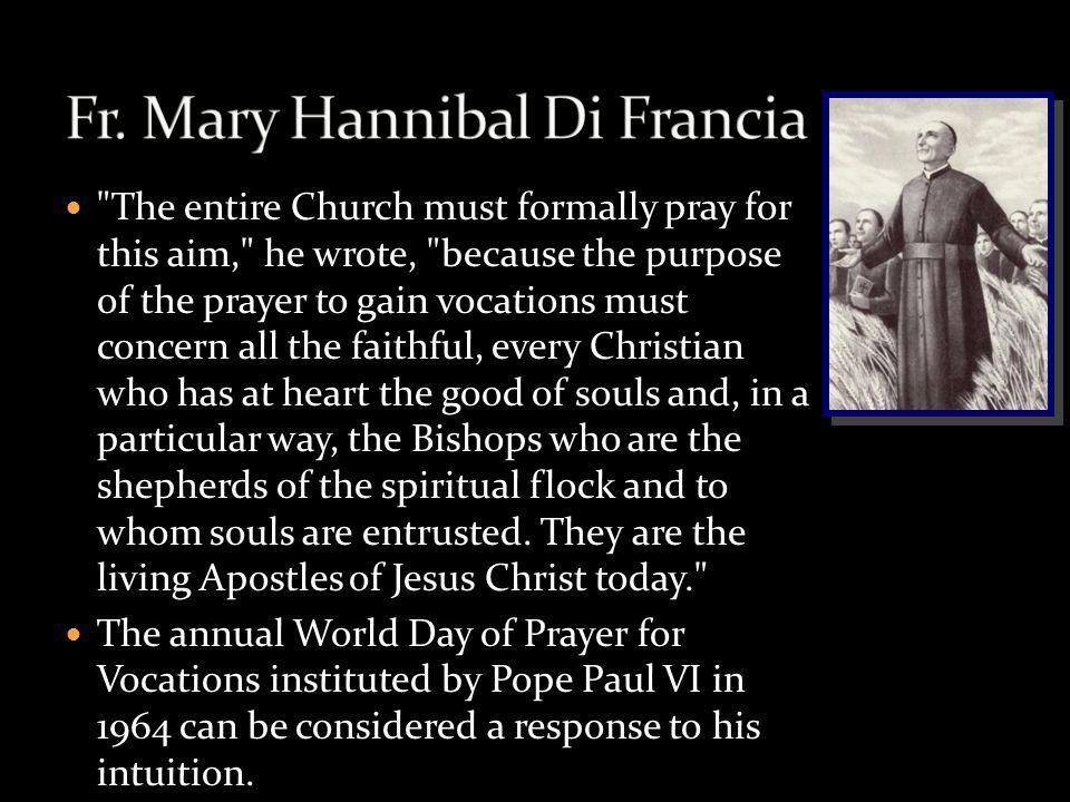 Fr. Mary Hannibal Di Francia