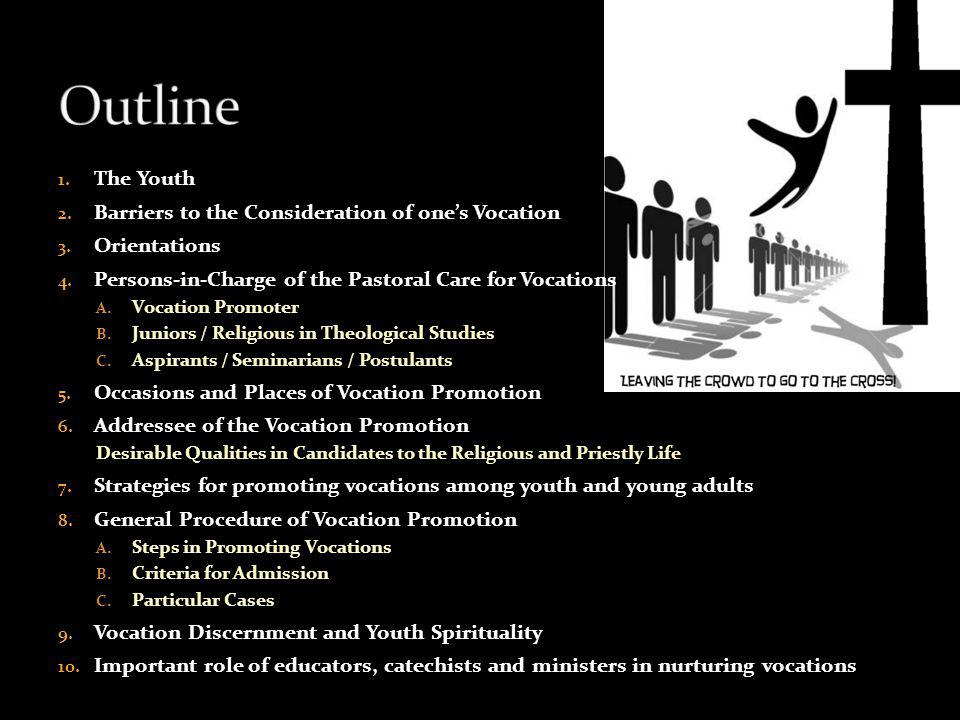 Outline The Youth Barriers to the Consideration of one's Vocation