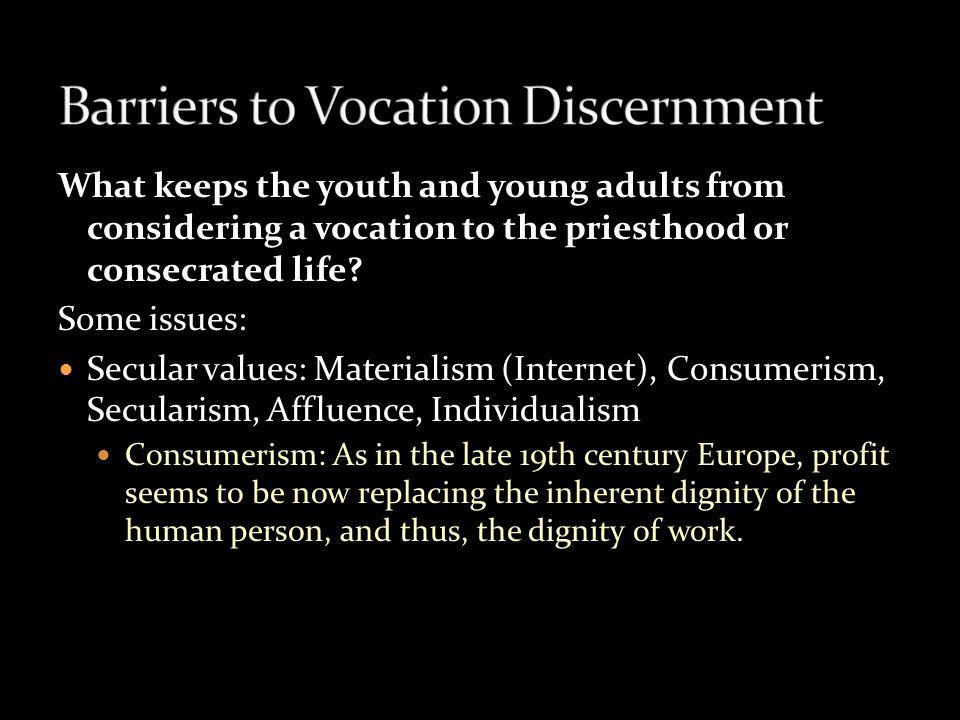 Barriers to Vocation Discernment
