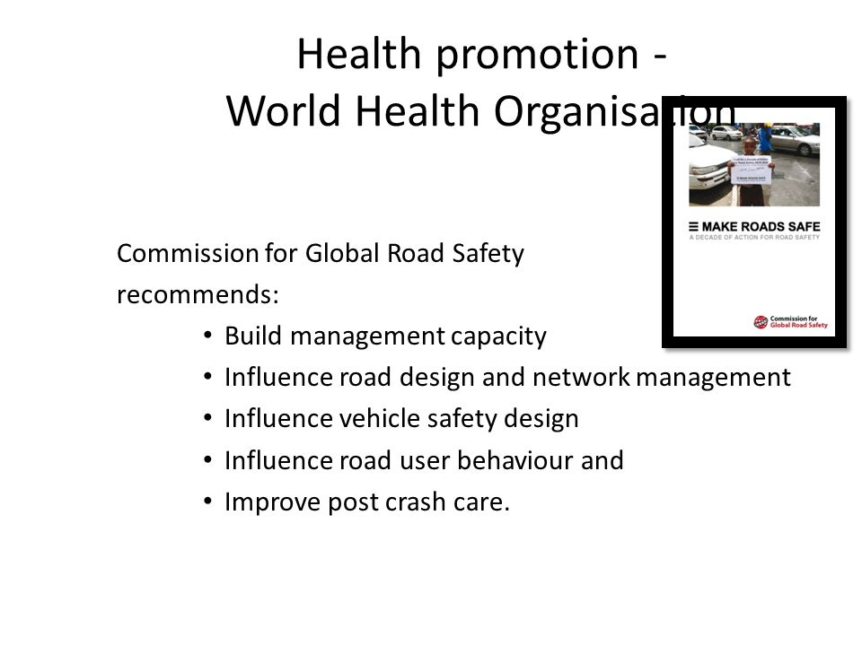Health promotion - World Health Organisation