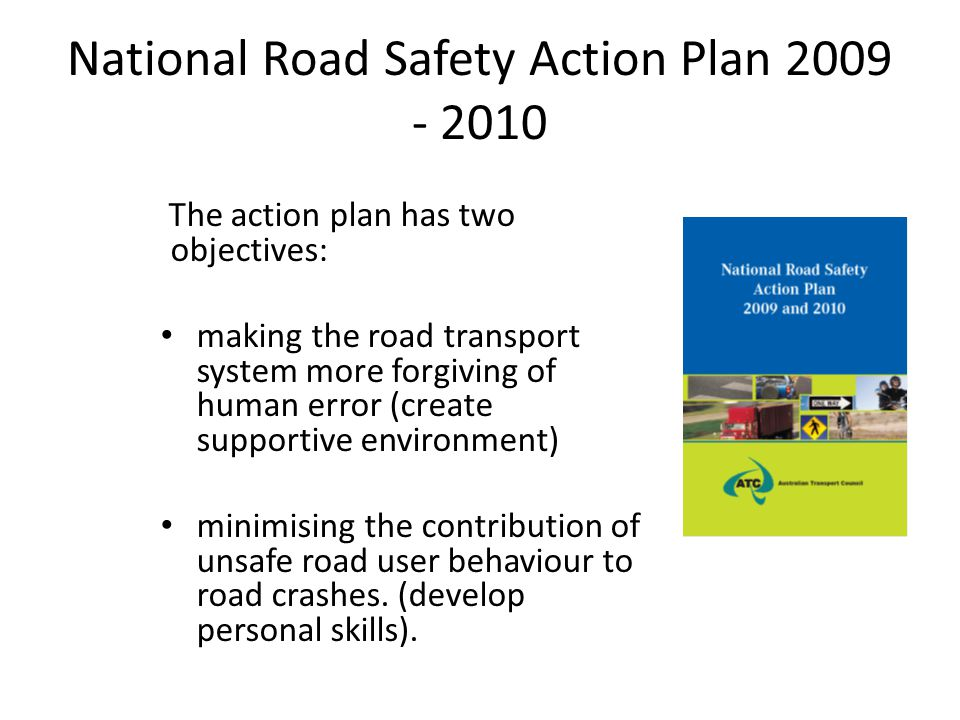 National Road Safety Action Plan 2009 - 2010