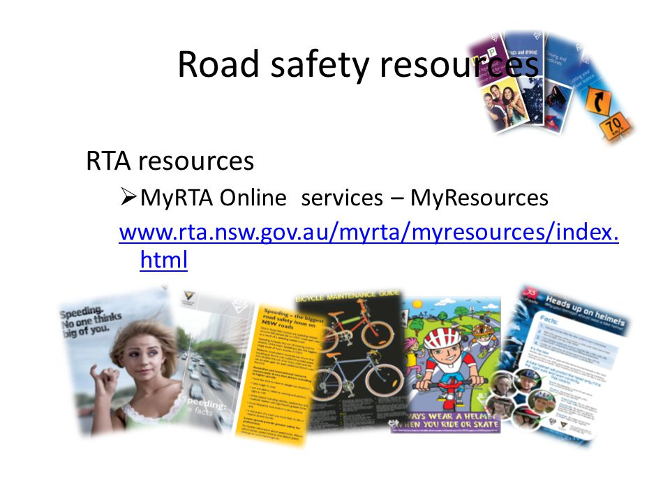 Road safety resources RTA resources