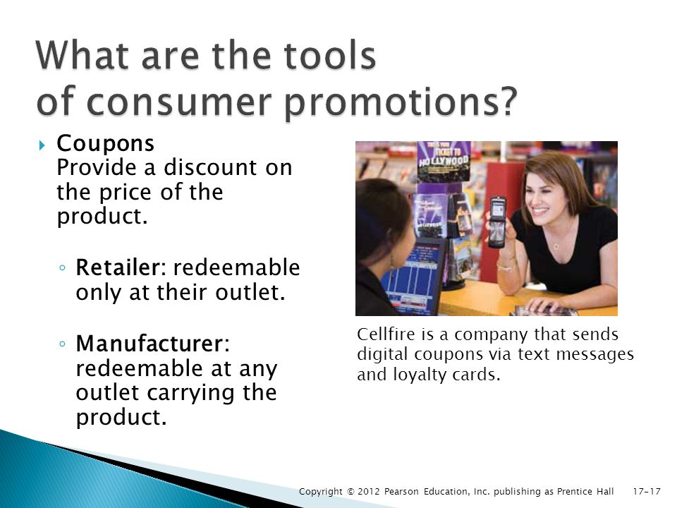 What are the tools of consumer promotions