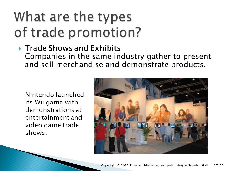 What are the types of trade promotion