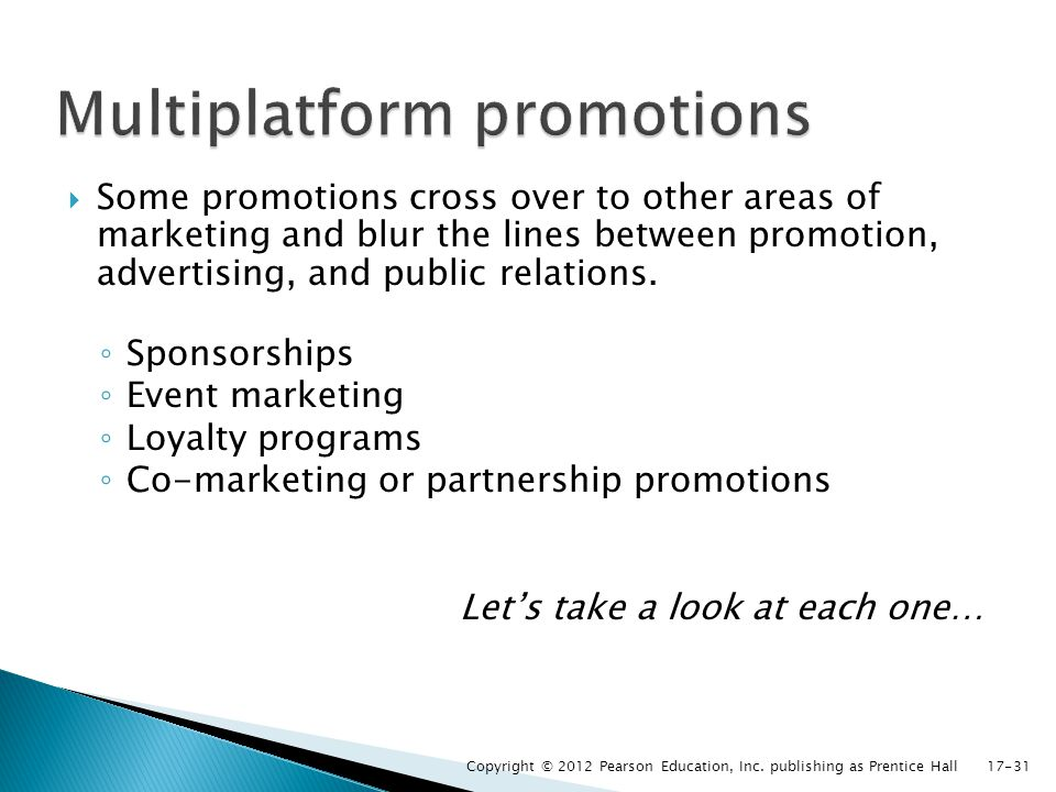 Multiplatform promotions