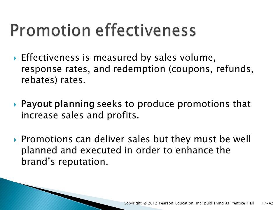 Promotion effectiveness
