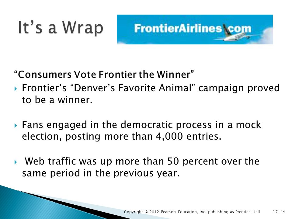 It's a Wrap Consumers Vote Frontier the Winner
