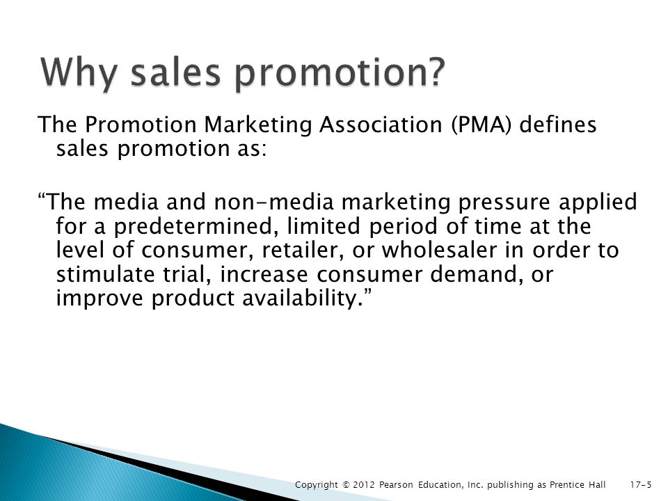 Why sales promotion
