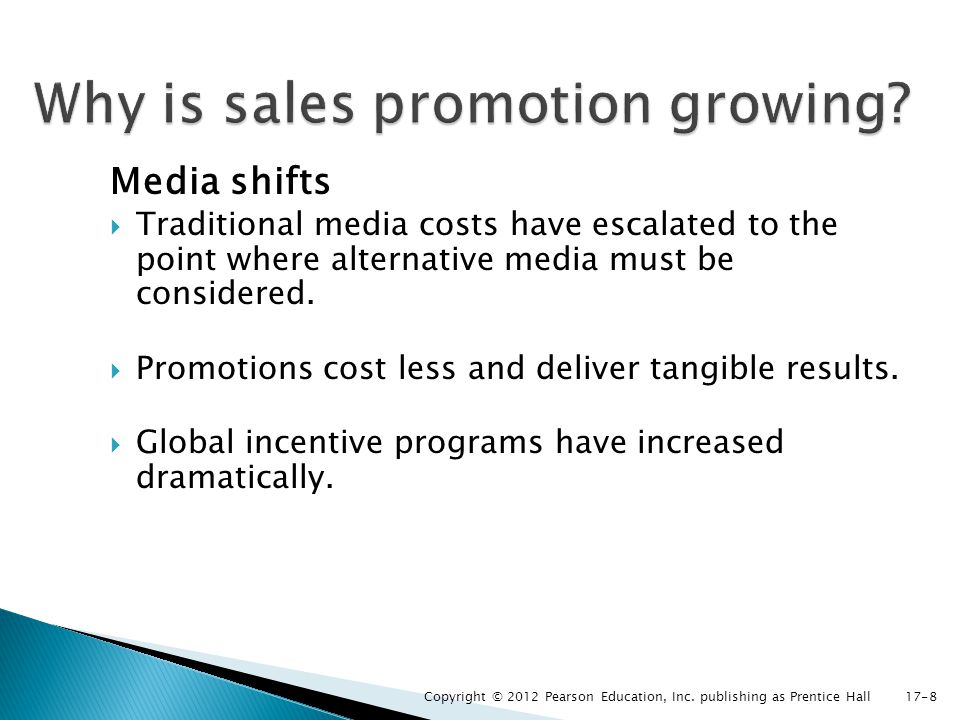 Why is sales promotion growing