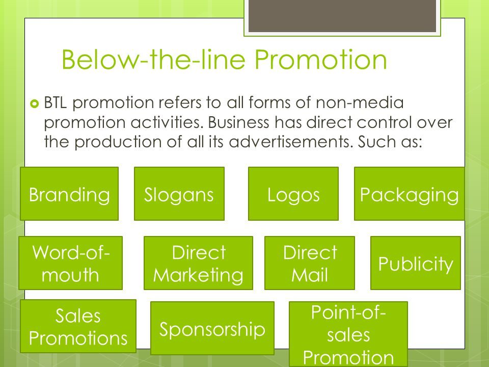 Below-the-line Promotion