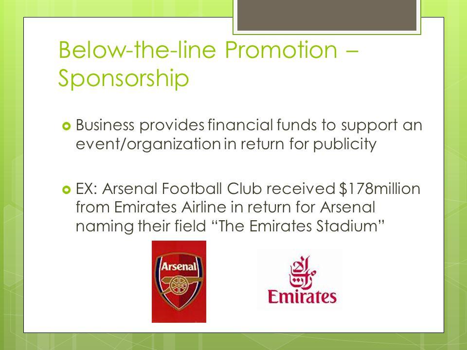 Below-the-line Promotion – Sponsorship