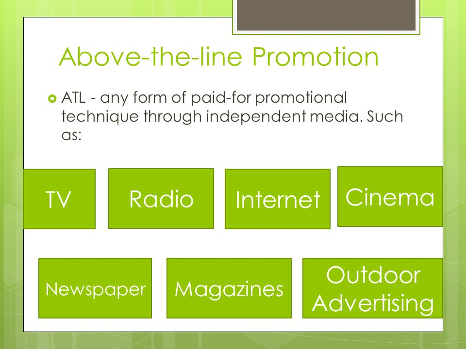 Above-the-line Promotion