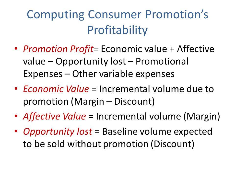 Computing Consumer Promotion's Profitability