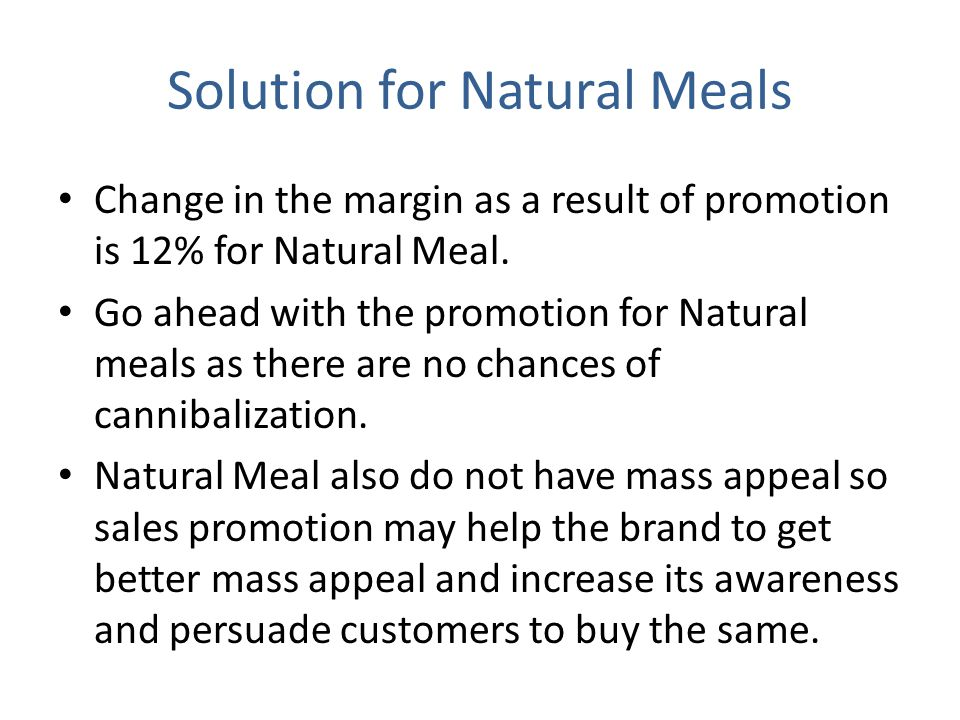 Solution for Natural Meals