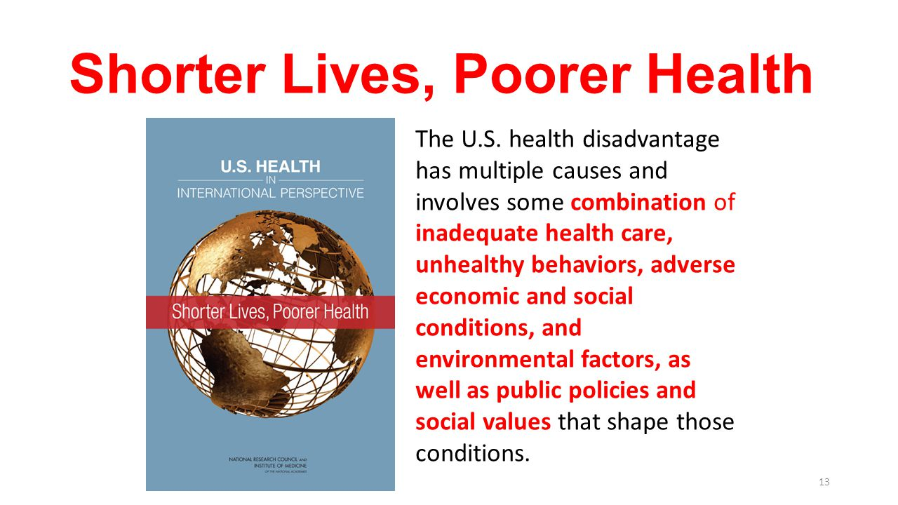 Shorter Lives, Poorer Health
