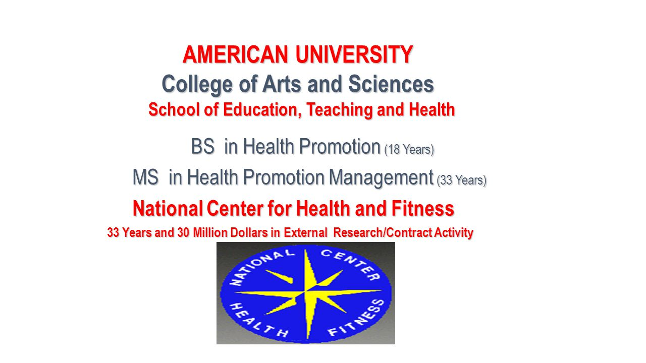 College of Arts and Sciences School of Education, Teaching and Health