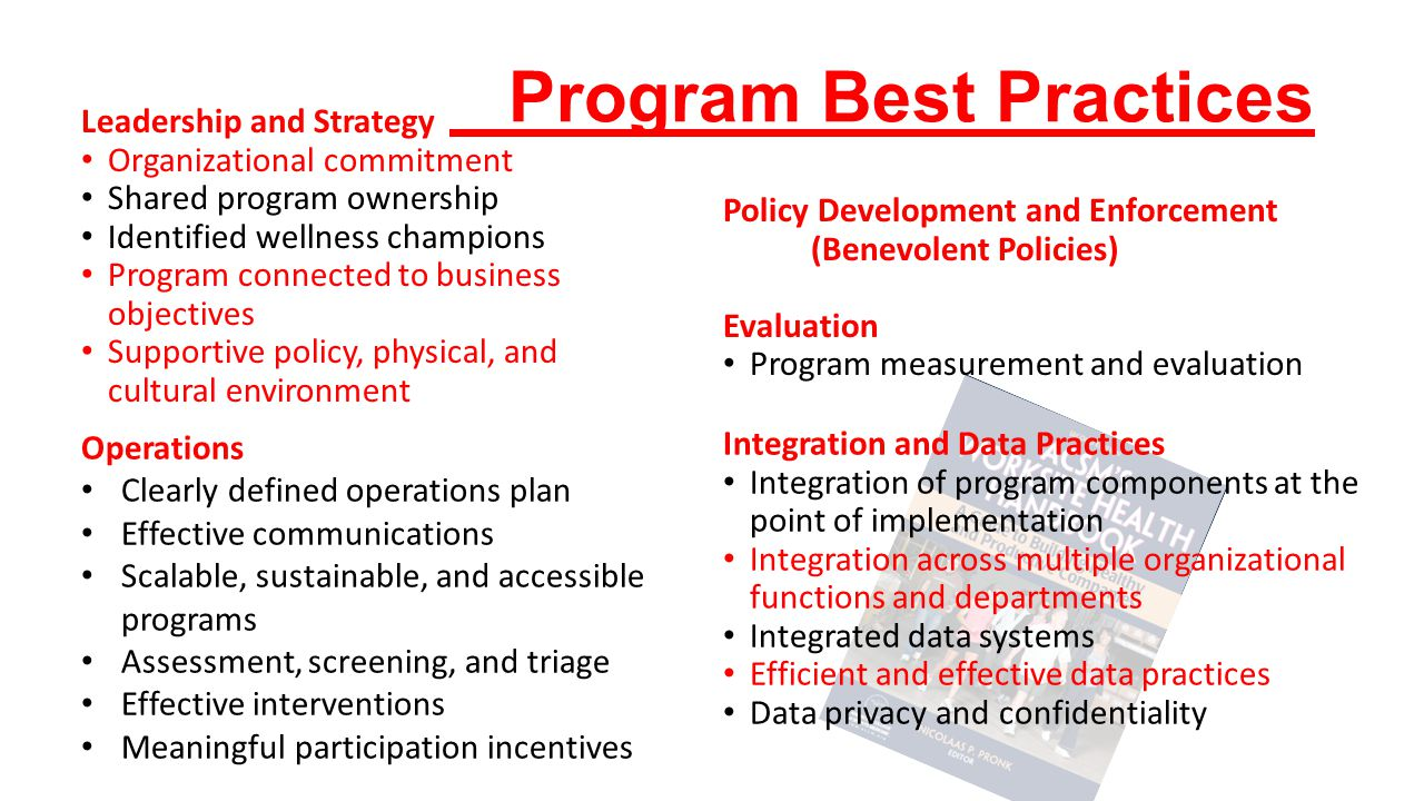 Program Best Practices