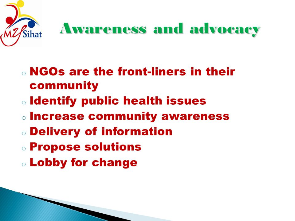 Awareness and advocacy