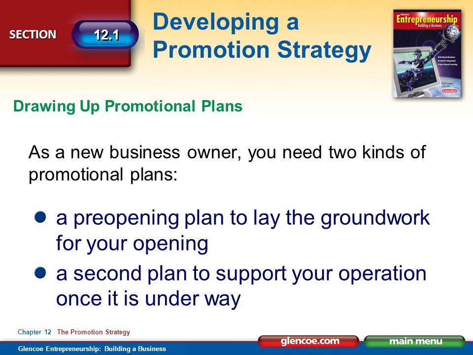 a preopening plan to lay the groundwork for your opening