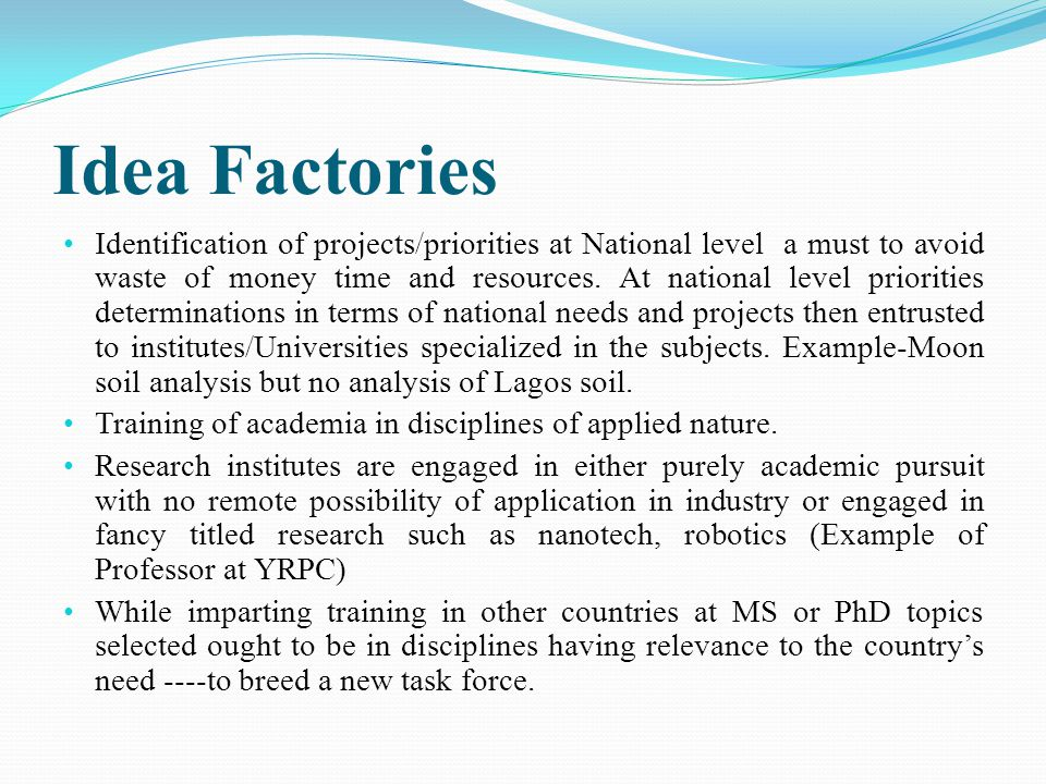 Idea Factories