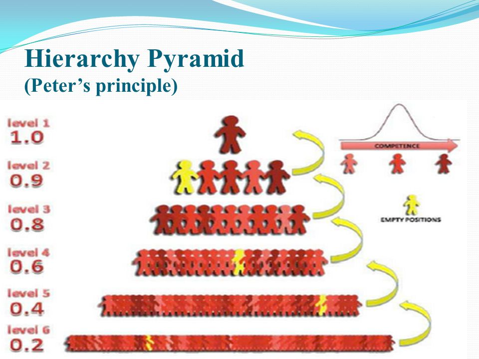 Hierarchy Pyramid (Peter's principle)