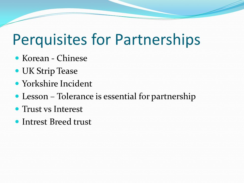 Perquisites for Partnerships