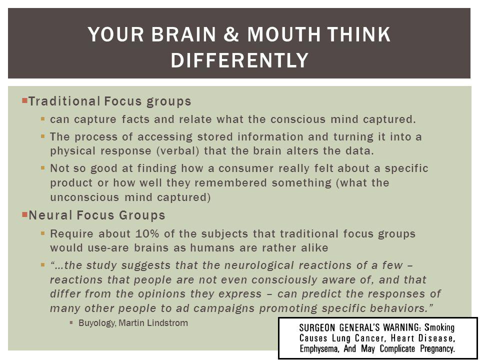 Your Brain & Mouth think differently