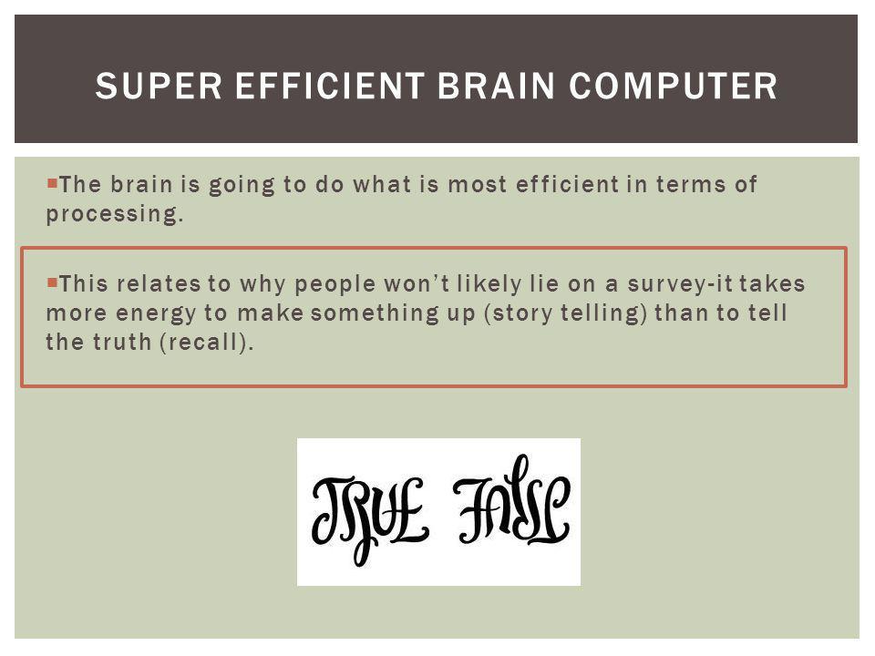 Super efficient brain computer