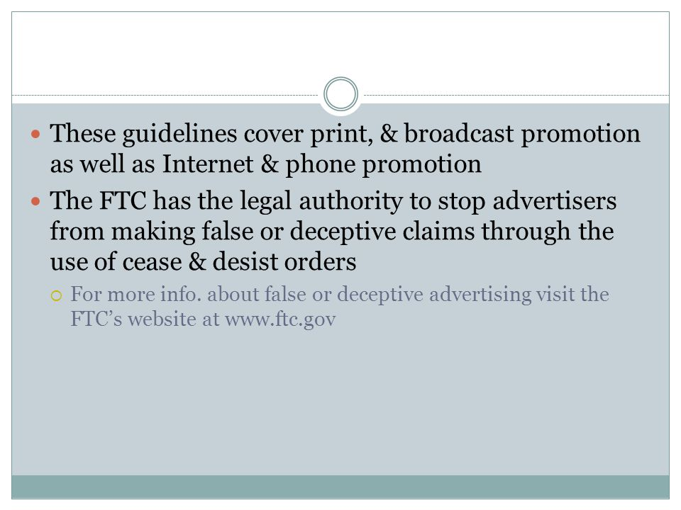 These guidelines cover print, & broadcast promotion as well as Internet & phone promotion