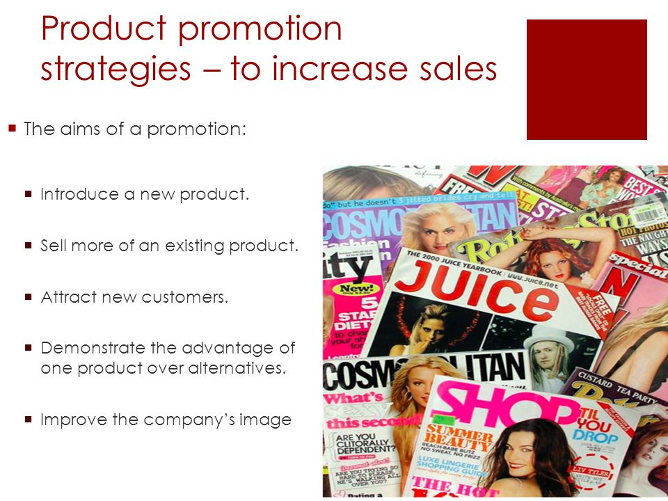 Product promotion strategies – to increase sales