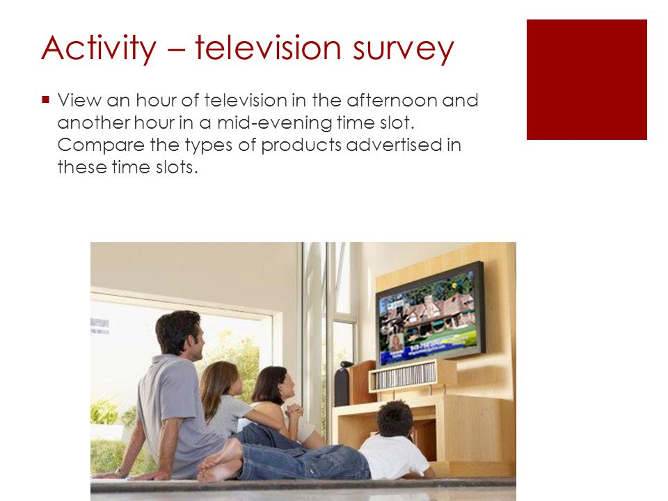 Activity – television survey