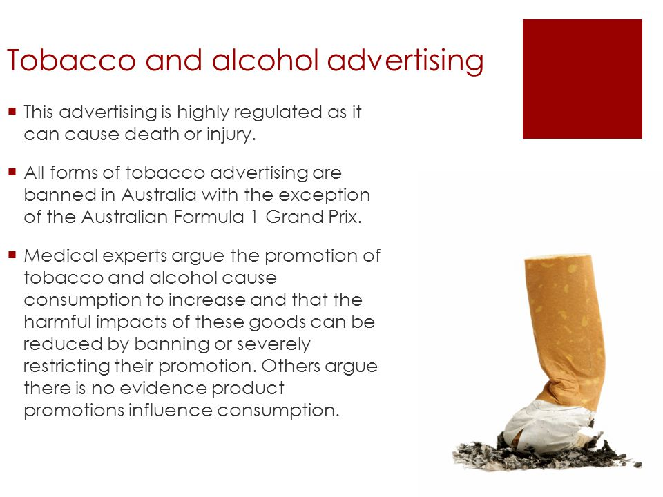 Tobacco and alcohol advertising