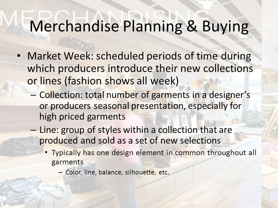 Merchandise Planning & Buying