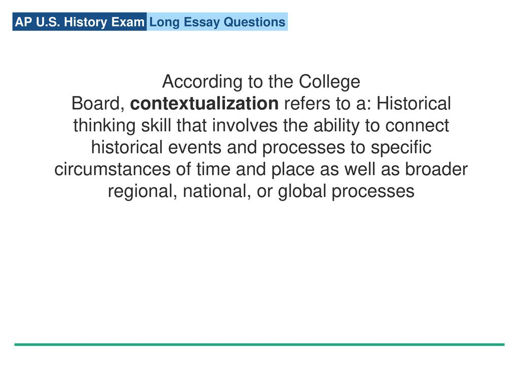 Long essay quetion college board