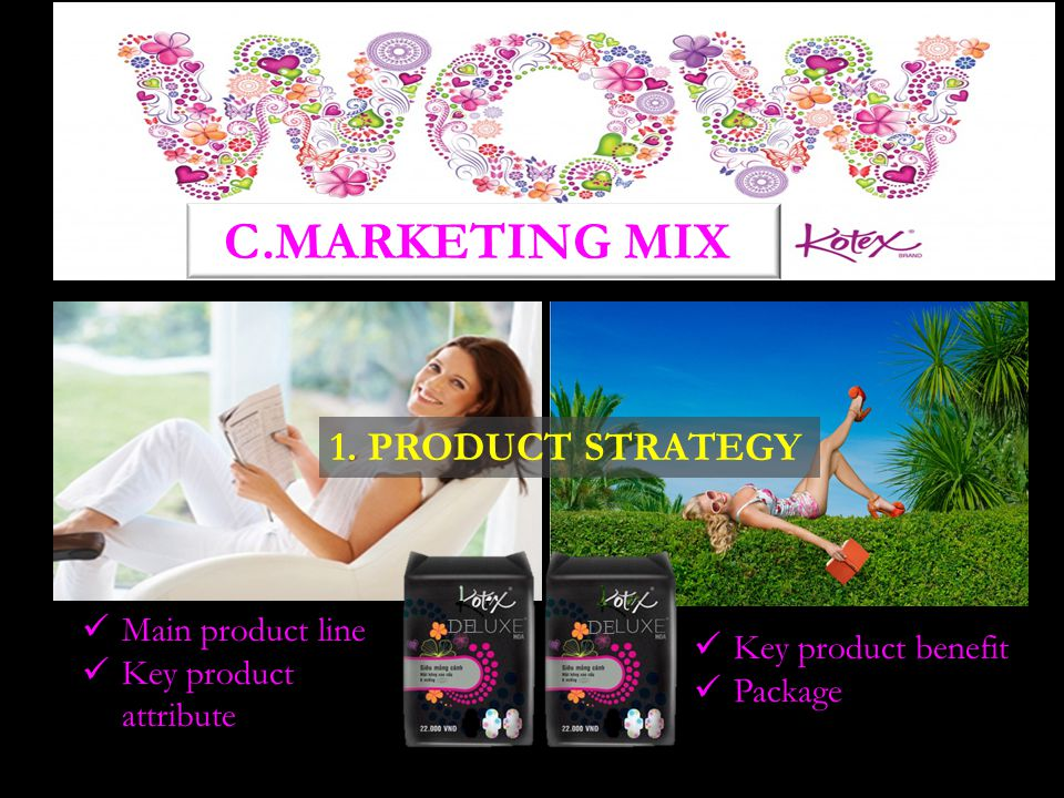 C.MARKETING MIX 1. PRODUCT STRATEGY Main product line