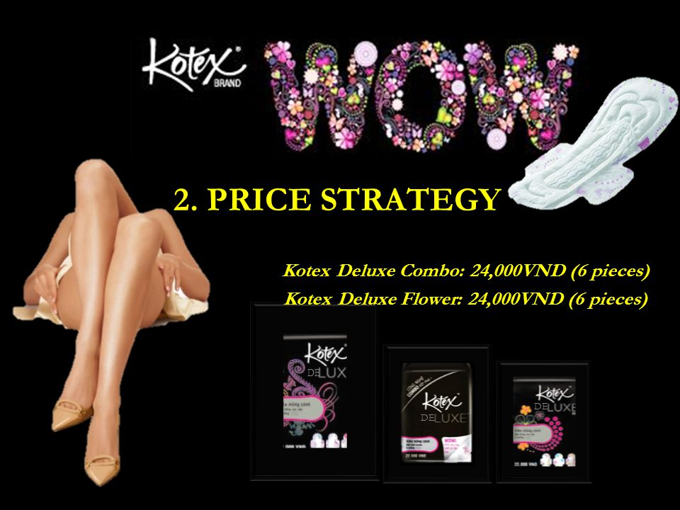Kotex Deluxe Flower: 24,000VND (6 pieces)
