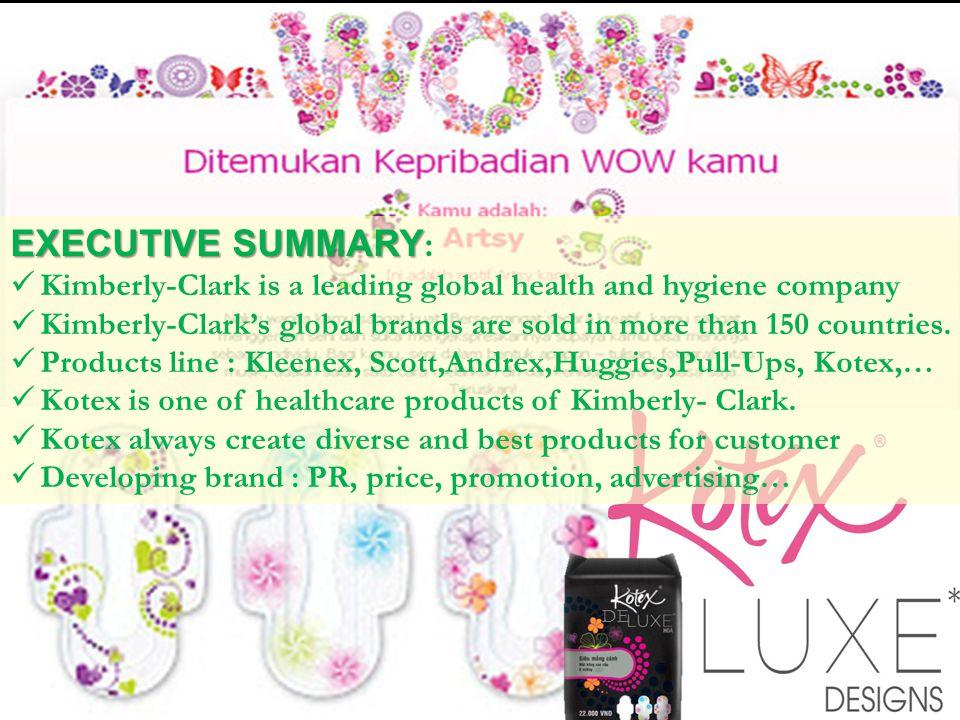 EXECUTIVE SUMMARY: Kimberly-Clark is a leading global health and hygiene company.