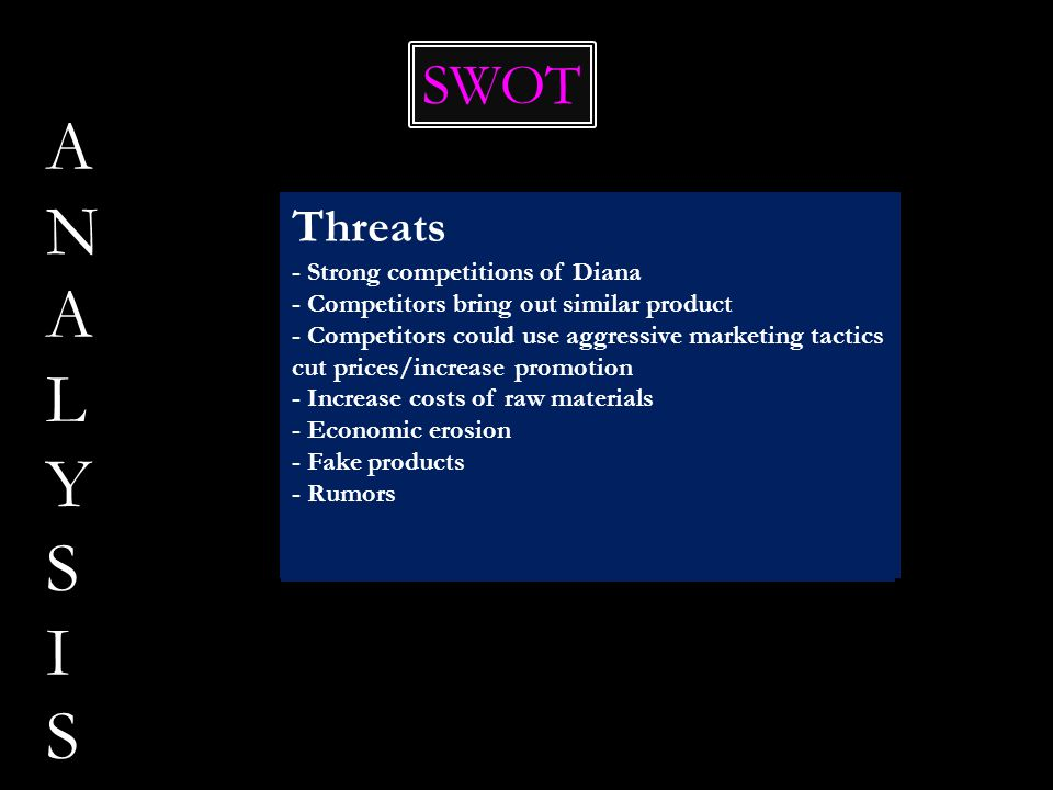 ANALYSIS SWOT Opportunities Threats Strengths Weaknesses - R&D