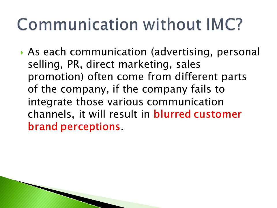 Communication without IMC