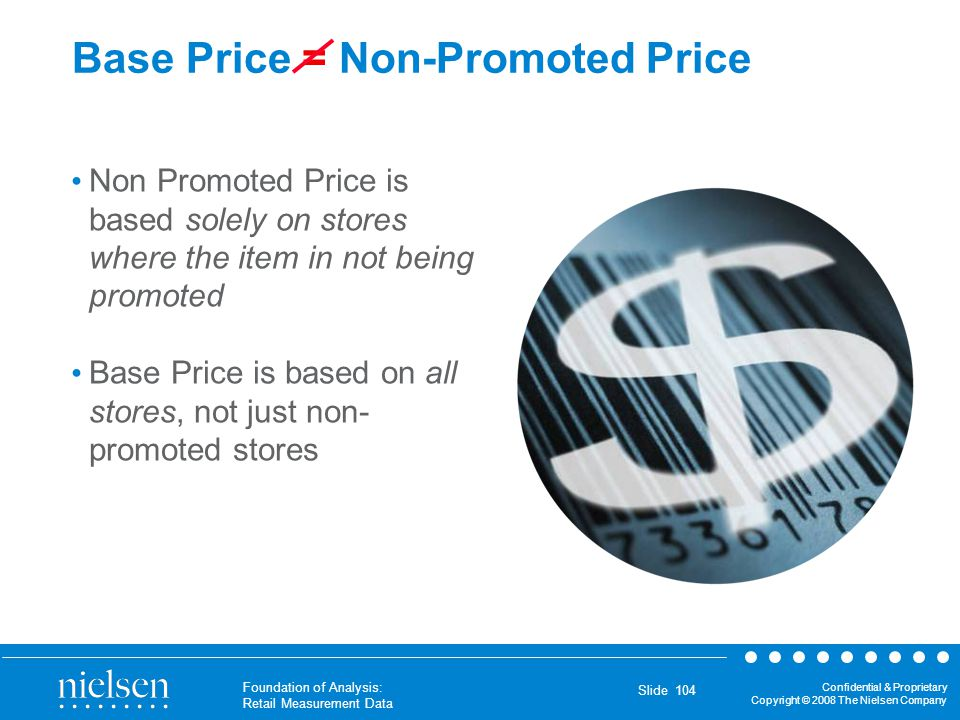 Base Price = Non-Promoted Price