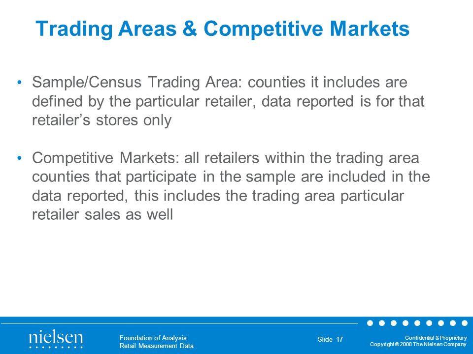 Trading Areas & Competitive Markets
