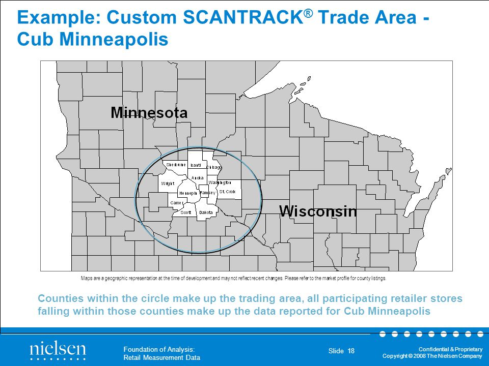 Example: Custom SCANTRACK® Trade Area - Cub Minneapolis