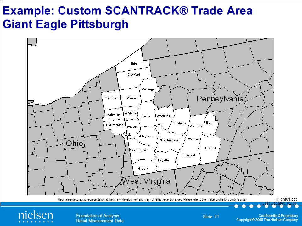 Example: Custom SCANTRACK® Trade Area Giant Eagle Pittsburgh