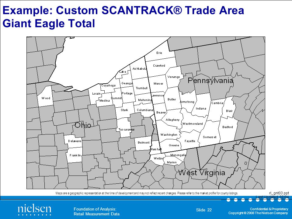 Example: Custom SCANTRACK® Trade Area Giant Eagle Total
