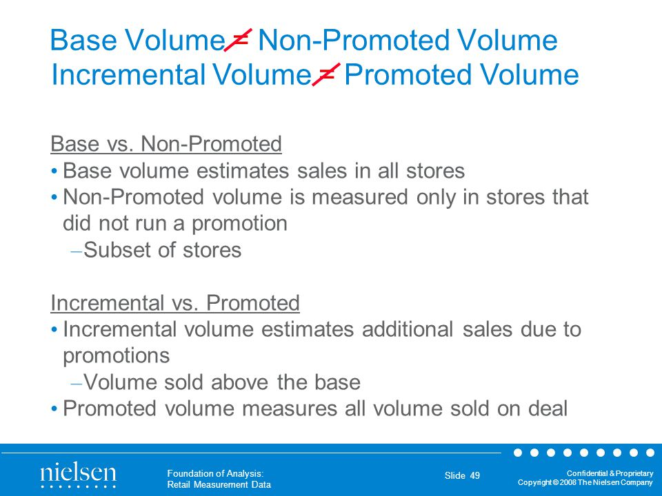 Base Volume = Non-Promoted Volume