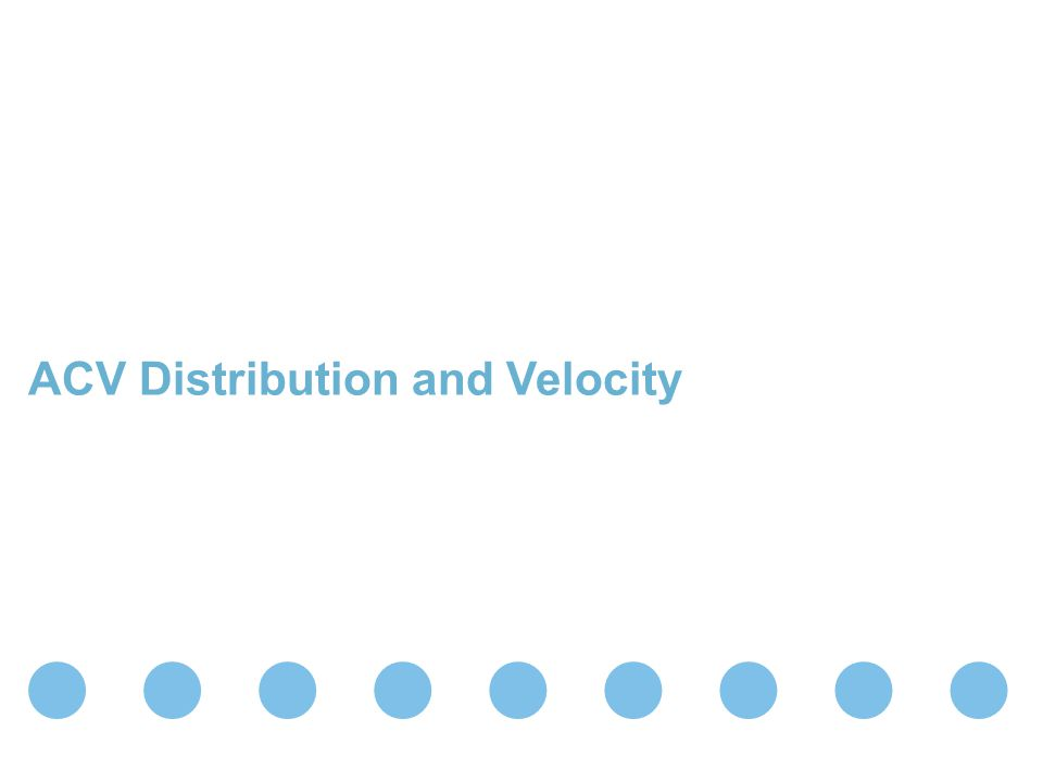 ACV Distribution and Velocity